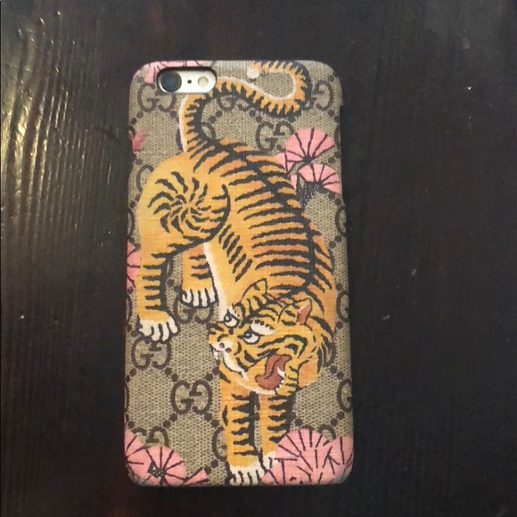 half off 31abf 73bfc Gucci iPhone 6s pink bengal phone case